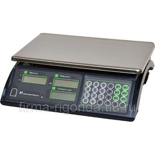 Весы торговые электронные ВР4900-30-2Д-АБ 10 АКБ