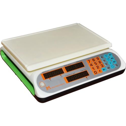 Весы торговые электронные ВР4900-30-2Д-ДБ 12 АКБ