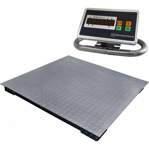 Весы торговые электронные ВЭТ-1-2000П-2С-ДБ (1м*1м) АКБ