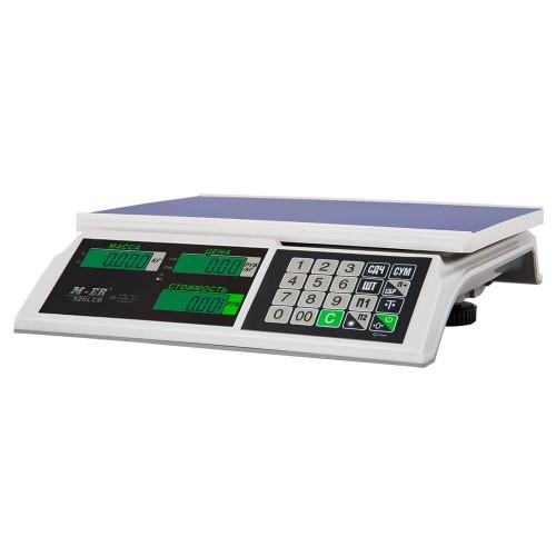 """Весы торговые электронные M-ER 326 AC-15.2 """"Slim"""" LCD Белые"""