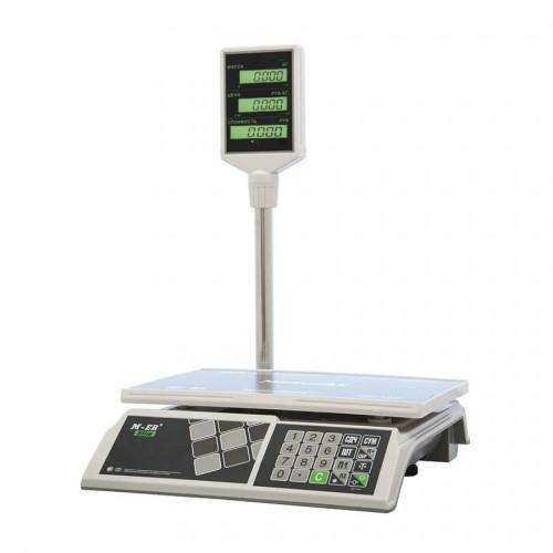 """Весы торговые электронные M-ER 326 ACP-15.2 """"Slim"""" LCD Белые"""
