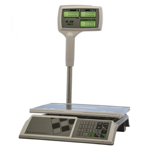 """Весы торговые электронные M-ER 326 ACPX-15.2 """"Slim'X"""" LCD Белые"""