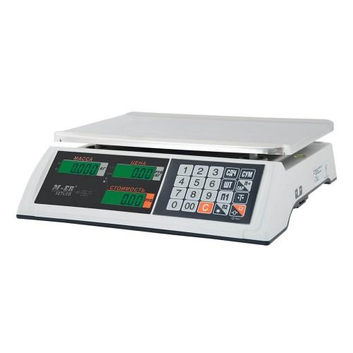 """Весы торговые электронные M-ER 327 AC-32.5 """"Ceed"""" LCD Белые"""