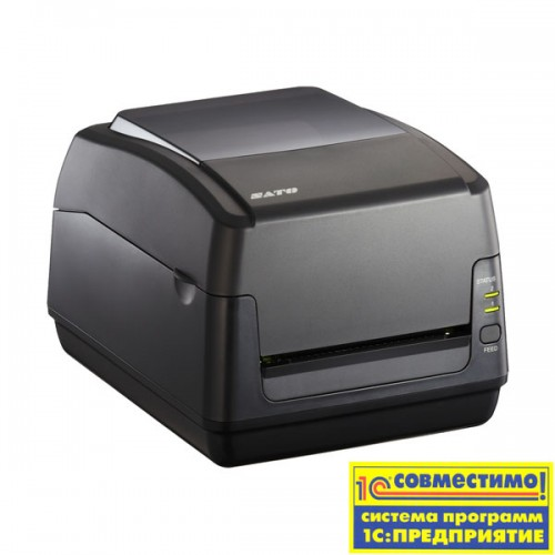 Принтер этикеток SATO WS408TT-STD 203 dpi with Cutter, WLAN, USB, LAN + RS232C + EU power cable