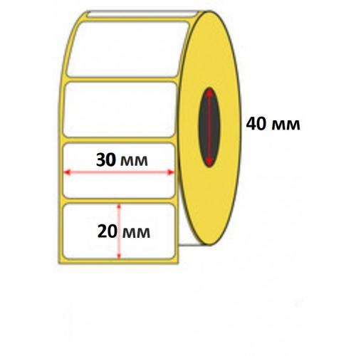 Термоэтикетка 30х20 мм (1800 шт) ЭКО / втулка 40 мм